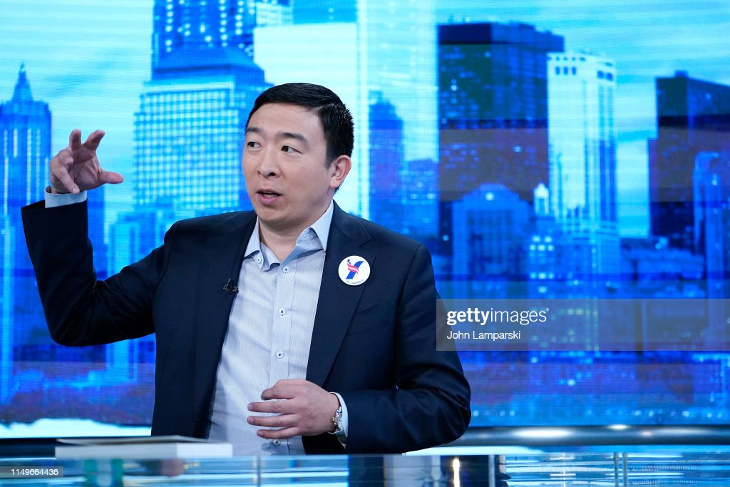 """Democratic Presidential Candidate Andrew Yang Visits """"The Story With Martha MacCallum"""" : News Photo"""