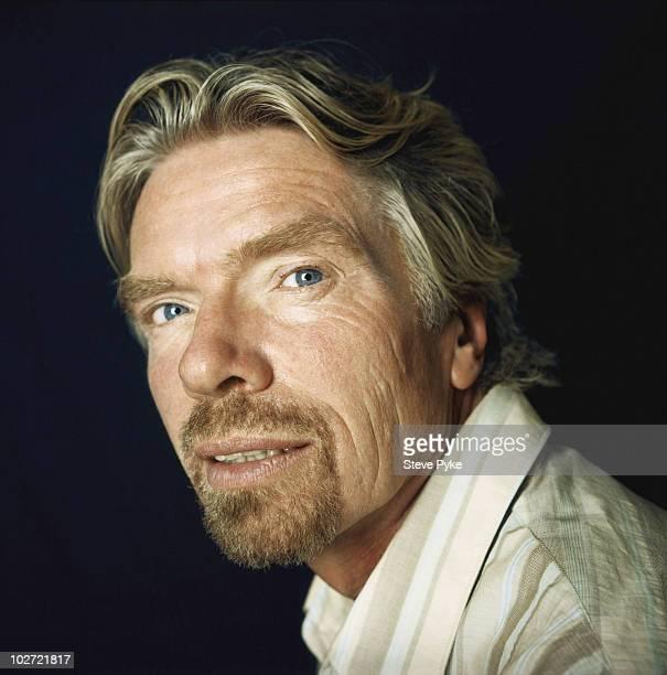 Entrepreneur Richard Branson poses for a portrait shoot in London UK