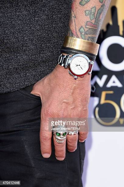 Entrepreneur Richard Rawlings jewelry detail attends the 50th Academy of Country Music Awards at ATT Stadium on April 19 2015 in Arlington Texas