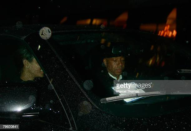 Entrepreneur Russell Simmons and galpal model Porschia Coleman sighting leaving Mr Chow's resturant in Beverly Hills on February 21 2008 in Los...