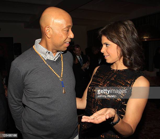"""Entrepreneur Russell Simmons and TV personality and CNN anchor Soledad O'Brien attend """"The Next Big Story"""" book launch party on November 12, 2010 in..."""