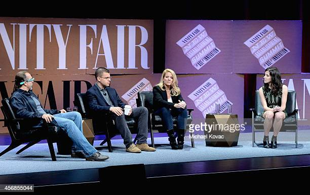 Entrepreneur scientist and author Astro Teller Paypal Inc CoFounder Max Levchin SpaceX COO Gwynne Shotwell and The Information Founder Editor in...