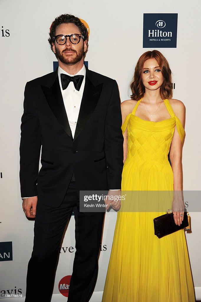 Entrepreneur Sean Parker and Alexandra Lenas arrive at Clive Davis and the Recording Academy's 2012 Pre-GRAMMY Gala and Salute to Industry Icons Honoring Richard Branson held at The Beverly Hilton Hotel on February 11, 2012 in Beverly Hills, California.