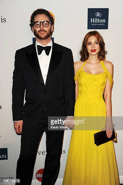 Entrepreneur Sean Parker and Alexandra Lenas arrive at Clive Davis and the Recording Academy's 2012 PreGRAMMY Gala and Salute to Industry Icons...
