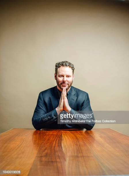 Entrepreneur Sean Parker is photographed for Forbes Magazine at the Forbes Philanthropy Summit on May 30 2018 in San Francisco California CREDIT MUST...
