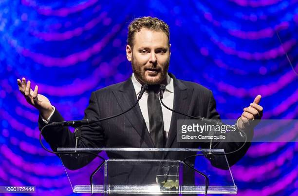 Entrepreneur Sean Parker speaks on stage at the Philly Fights Cancer Round 4 at The Philadelphia Navy Yard on November 10 2018 in Philadelphia...