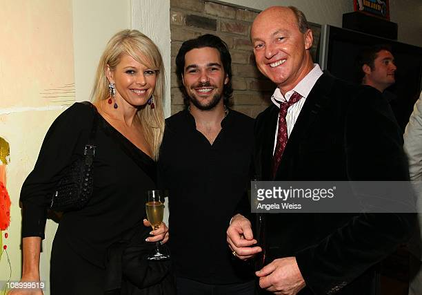 entrepreneur Sharlene Ludwig Jeff Rosenthal of Summit Series and Chairman of Lionsgate Entertainment Harold Ludwig attend the Friends N Family Dinner...