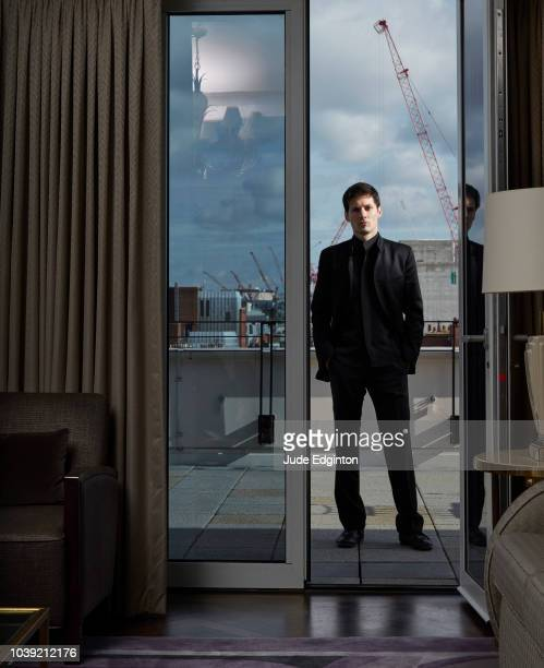 Entrepreneur who founded social networking site VK and Telegram Messenger Pavel Durov is photographed for Fortune magazine on February 18 2016 in...
