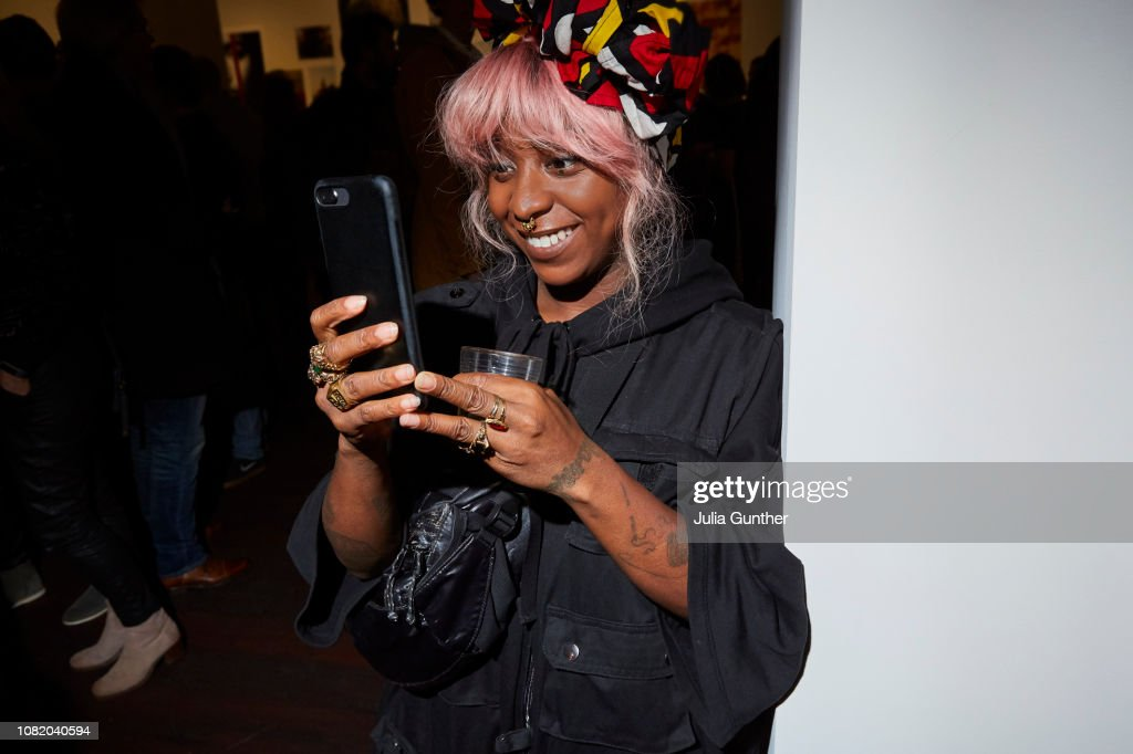 Woman takes a picture