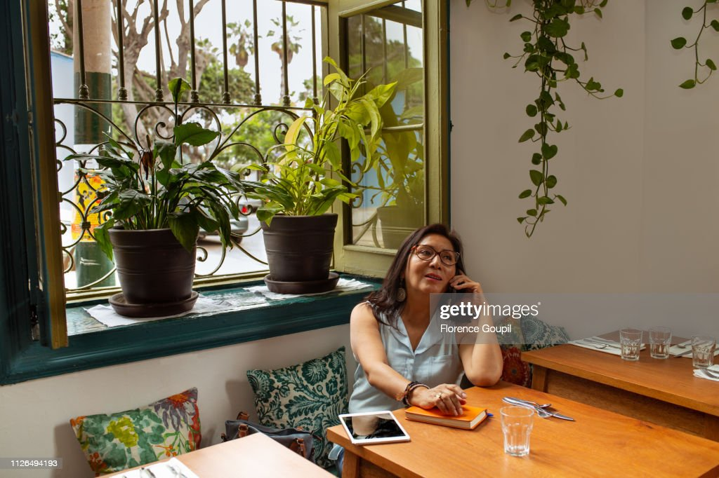 Entrepreneur woman on a working day : Stock-Foto
