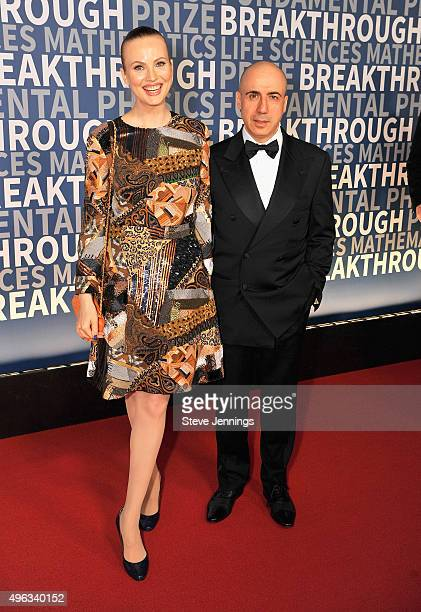 Entrepreneur Yuri Milner and Julia Milner attend the 2016 Breakthrough Prize Ceremony on November 8 2015 in Mountain View California