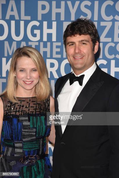 Entrepreneur Zachary Bogue and information technology executive Marissa Mayer attend the 2018 Breakthrough Prize at NASA Ames Research Center on...