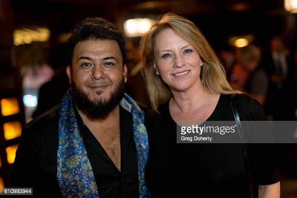 Entrepreneurs Adam Farfan and Shanin Dockrey attend the Premiere Of Momentum Pictures' 'Milton's Secret' After Party at The Hollywood Roosevelt Hotel...