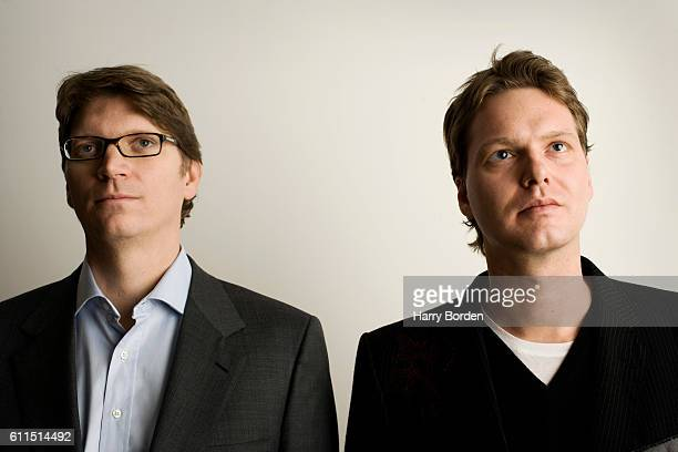 Entrepreneurs and cofounders of Skype Niklas Zennstrom Janus Friis are photographed on August 12 2010 in London England