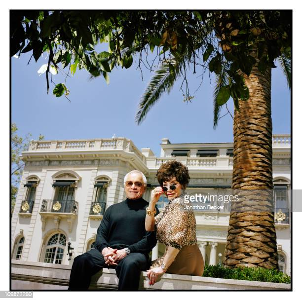 Entrepreneurs Lynda Resnick and Stewart Resnick are photographed at home for Vanity Fair Magazine on April 24, 2010 in Beverly Hills, California....