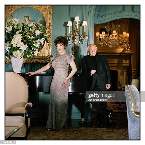 Entrepreneurs Lynda Resnick and Stewart Resnick are photographed at home for Vanity Fair Magazine on April 24 2010 in Beverly Hills California