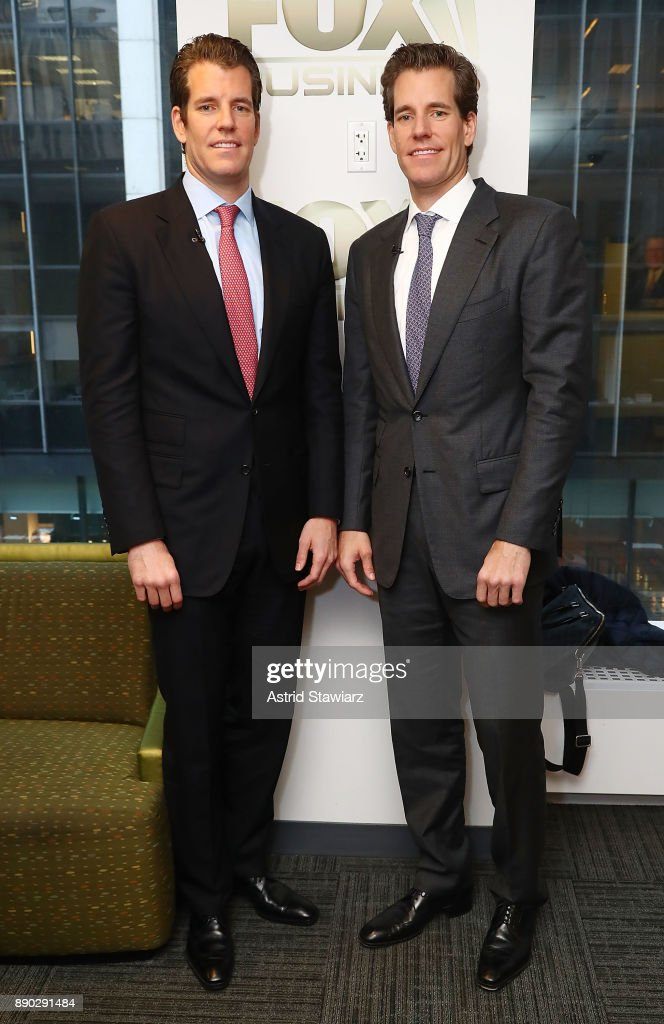 Entrepreneurs Tyler Winklevoss and Cameron Winklevoss discuss bitcoin during FOX Business' 'Mornings With Maria' at FOX Studios on December 11, 2017 in New York City.
