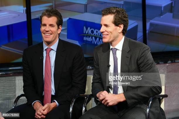 Entrepreneurs Tyler Winklevoss and Cameron Winklevoss discuss bitcoin with with Maria Bartiromo during FOX Business' 'Wall Street Week' at FOX...