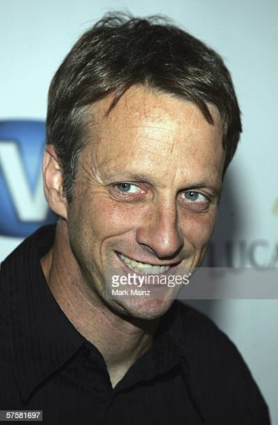 Entreprenuer Tony Hawk attends the Access E3 2006 celebrity gaming challenge at the House of Blues on May 10 2006 in Hollywood California