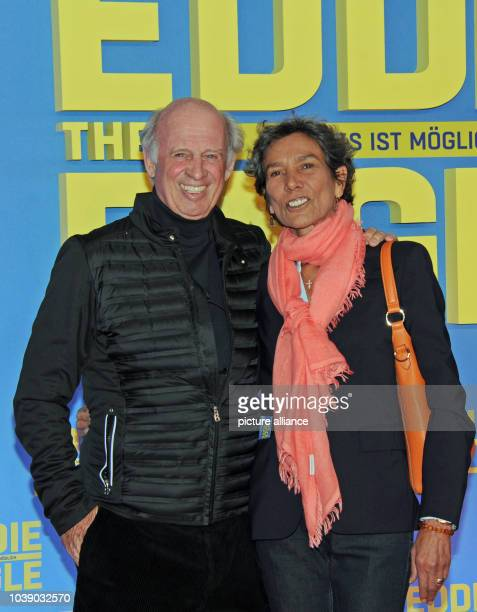 Entreprenuer Willy Bogner and his wife Sonia arrive for a special screening of 'Eddie The Eagle' in Munich Germany 20 March 2016 Photo Ursula...