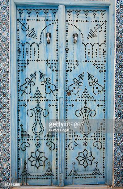 Entry door in Sidi Bou Said, Tunisia