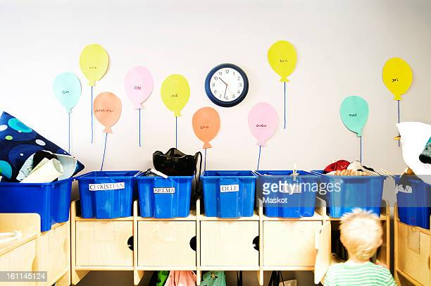 entry hall on preeschool - time management stock photos and pictures