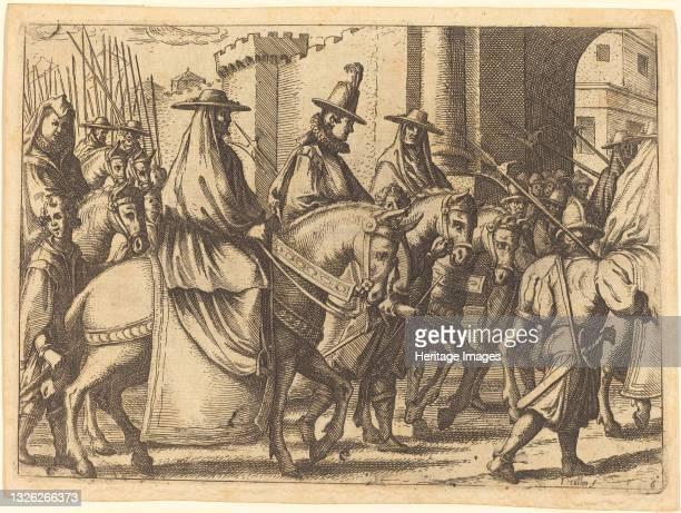 Entry into Ferrara, 1612. Artist Jacques Callot.