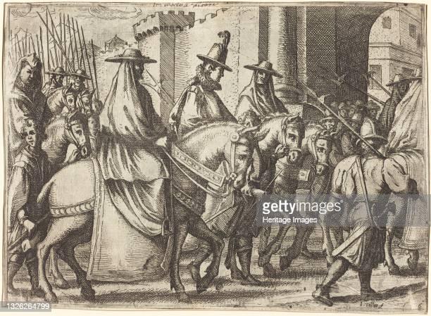 Entry into Ferrara [recto], 1612. Artist Jacques Callot.