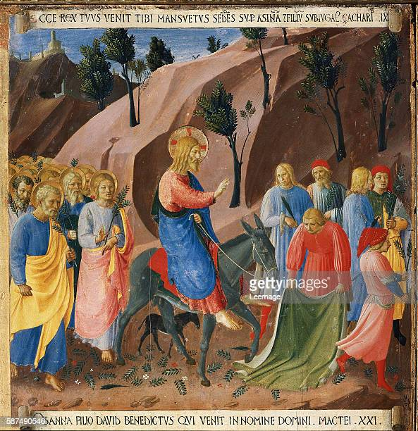 Entry Into Jerusalem From Scenes From the Life of Christ by Fra Angelico Tempera on wood panel Creation date ca 1450 Located in Museo di San Marco...