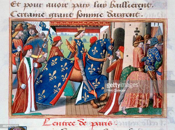 Entry of Charles VII into the city of Paris 12 November 1437 Illustration from the Vigils of Charles VII by Martial of Paris in the collection of the...