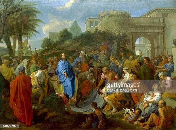Entry of Christ into Jerusalem by Charles Le Brun oil on canvas SaintEtienne Musée D'Art Et De L'Industrie