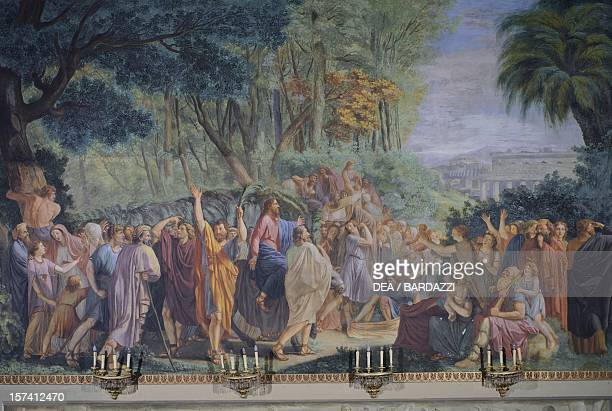 Entry of Christ into Jerusalem fresco by Luigi Ademollo Palatine Chapel Pitti Palace Florence Italy 17th19th century