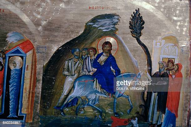 Entry of Christ into Jerusalem icon church of Saint Catherine's Monastery Sinai Peninsula Egypt