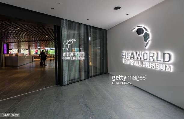 Entry to the FIFA World Football Museum at Zurich, Switzerland.