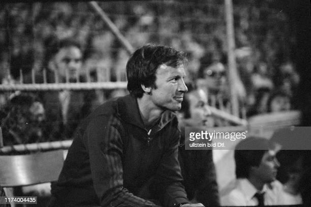 Entscheidungsspiel um die Meisterschaft 1977: FC Basel - Servette Genf; Trainer Benthaus