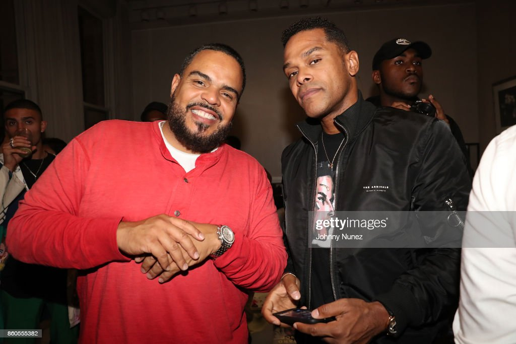 DJ Enuff and Maxwell Attend The dvsn 'Morning After' Album Release Listing Session at 120 Wooster Street on October 11, 2017 in New York City.