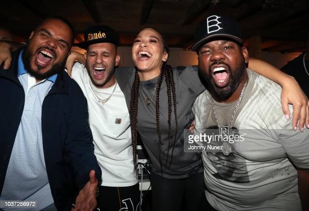 DJ Enuff Greg Yuna DJ Megan Ryte and Raekwon attend the Chapter II x Puma Suede 50th Anniversary at Alife on September 20 2018 in New York City