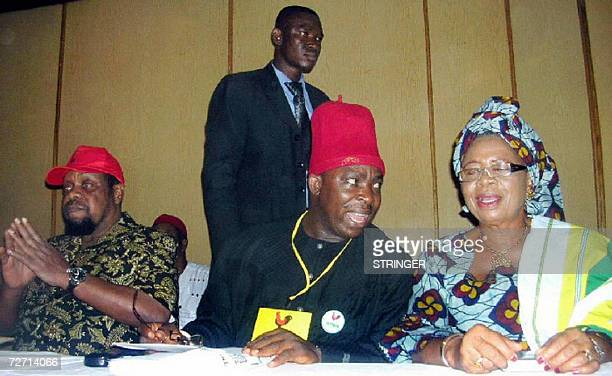 Former Biafra warlord Emeka OdumegwuOjukwu who emerged as the All Progressives Grand Alliance 's presidential aspirant for 2007 elections after their...