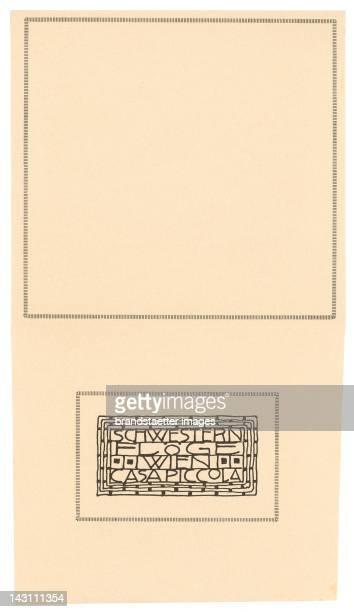 Envelop of the fashion house 'Schwestern Floege' Designed by Gustav Klimt 1904
