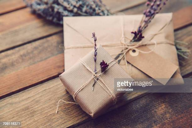 Envelope and wrapped gift