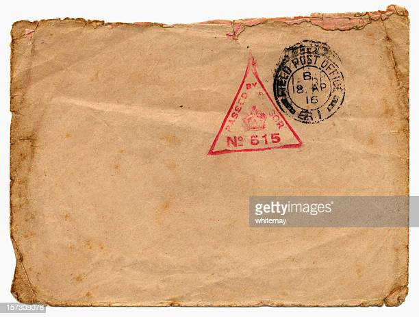 bfpo envelope from 1916 - world war one stock pictures, royalty-free photos & images