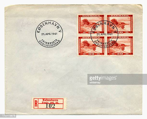 envelope from denmark, 1961 - 1961 stock pictures, royalty-free photos & images