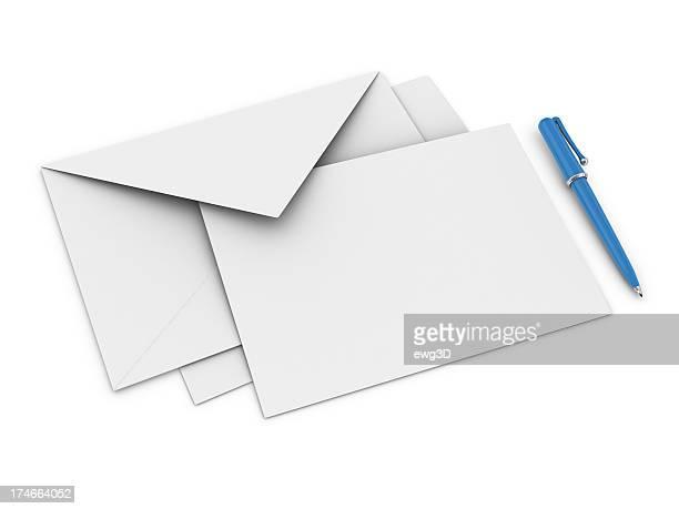 Envelope, Letter and Ballpoint Pen