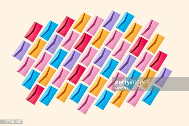 envelope messages collection pattern - post structure stock pictures, royalty-free photos & images