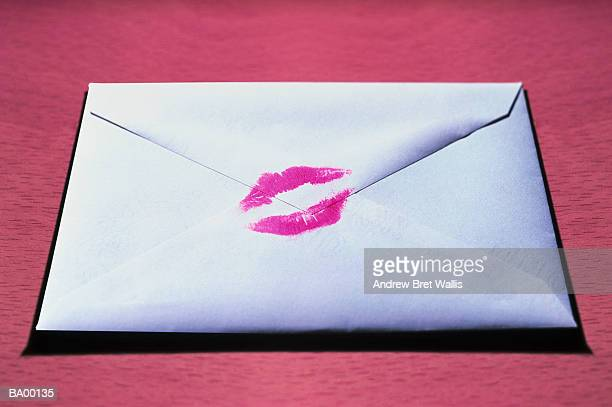 Envelope sealed with kiss mark