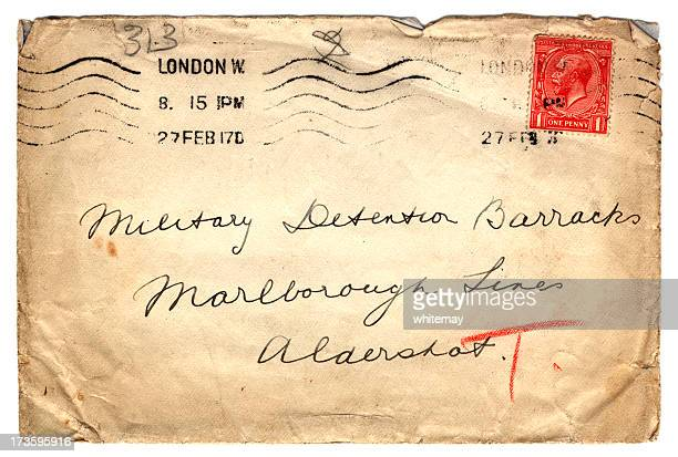 Envelope addressed to Military Detention Barracks