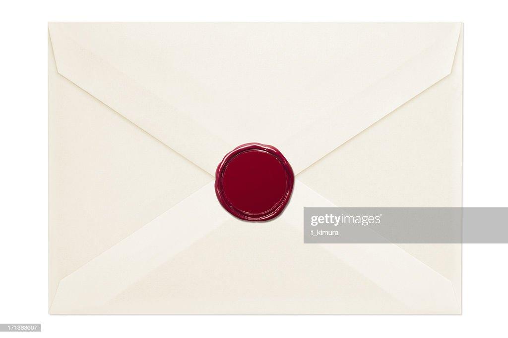 Umschlag mit Wachs Siegel : Stock-Foto