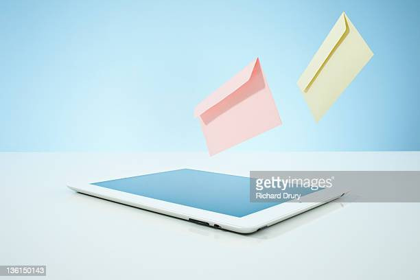 Envelopes (email) leaving tablet