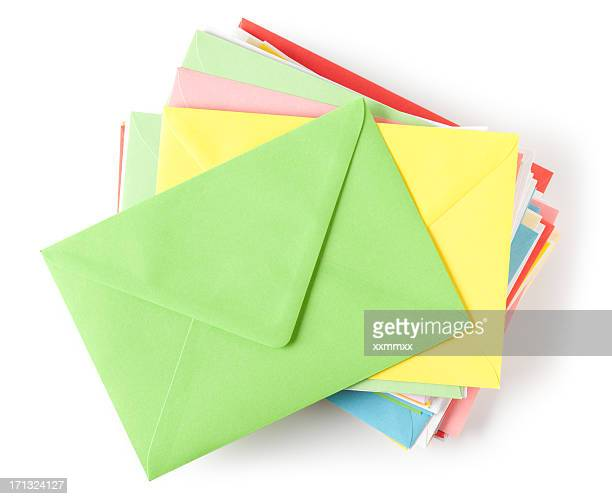 envelopes - greeting card stock photos and pictures