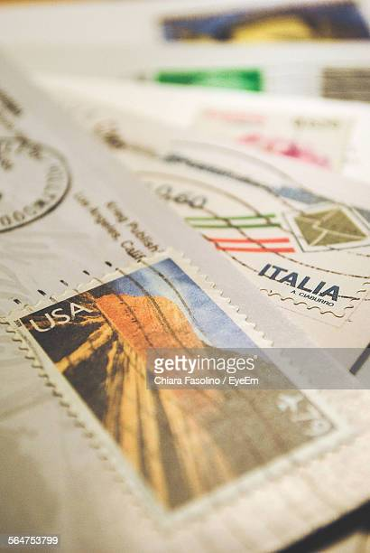 Envelopes With Postage Stamps